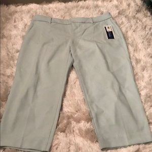 NWT • Mint Green Crop Dress Pants